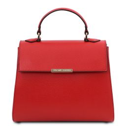 TL Bag Small leather duffel bag Lipstick Red TL142051