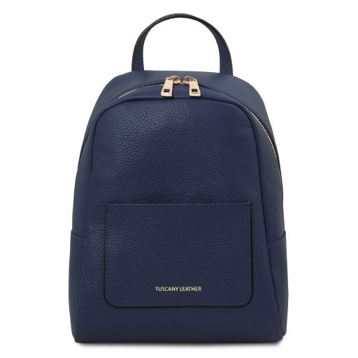 TL Bag Small soft leather backpack for women Dark Blue TL142052
