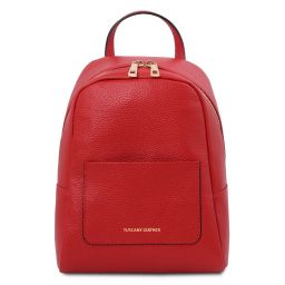 TL Bag Small soft leather backpack for women Lipstick Red TL142052
