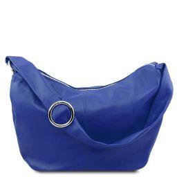 Yvette Sac hobo en cuir souple Bleu TL140900