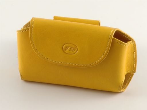 Leather cellphone holder Yellow TL140324