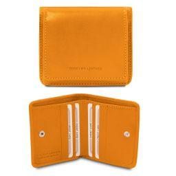 Elegante cartera en piel con monedero Amarillo TL142059