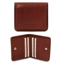 Esclusivo portafoglio in pelle con portamonete Marrone TL142059