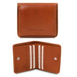 Elégant portefeuille en cuir avec porte monnaie Miel TL142059