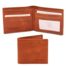 Elégant portefeuille en cuir pour homme 2 volets Miel TL142056