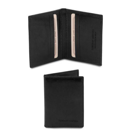 Esclusivo portacarte in pelle Nero TL142063