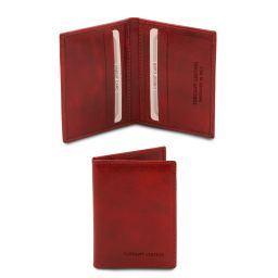 Exclusive leather card holder Red TL142063