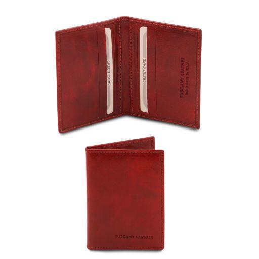 Elegante porta tarjetas en piel Rojo TL142063