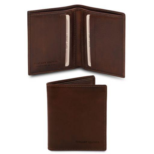Esclusivo portafoglio uomo in pelle 2 ante Testa di Moro TL142064