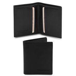 Esclusivo portafoglio uomo in pelle 2 ante Nero TL142064