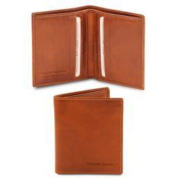 Esclusivo portafoglio uomo in pelle 2 ante Miele TL142064