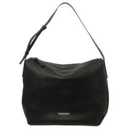 TL Bag Bolso hobo en piel suave Negro TL142081