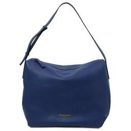 TL Bag Soft leather hobo bag Dark Blue TL142081
