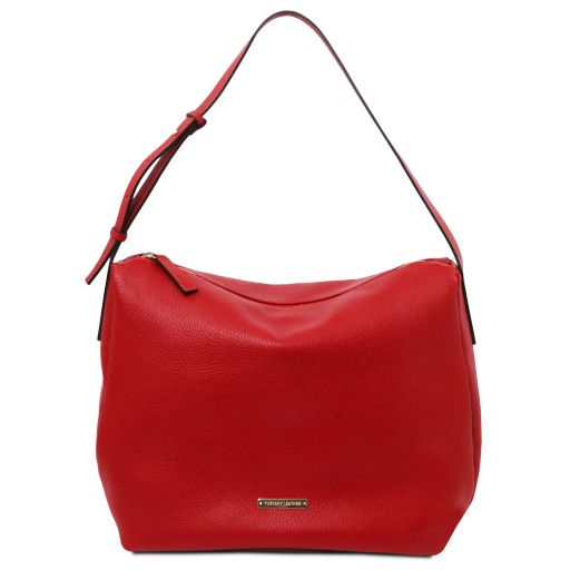 TL Bag Borsa hobo in pelle morbida Rosso Lipstick TL142081