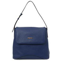 TL Bag Borsa al hombro en piel suave Azul oscuro TL142082
