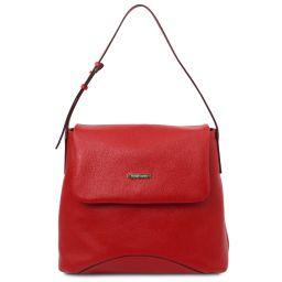 TL Bag Borsa a spalla in pelle morbida Rosso Lipstick TL142082
