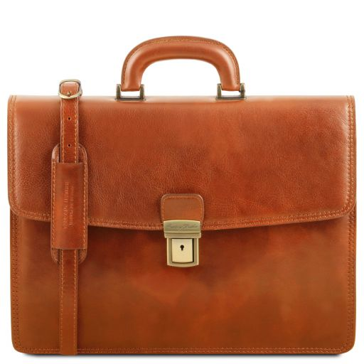 Amalfi Leather briefcase 1 compartment Honey TL141351
