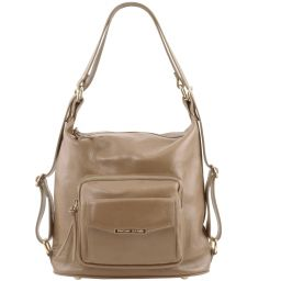 TL Bag Leather convertible bag Light Taupe TL141535