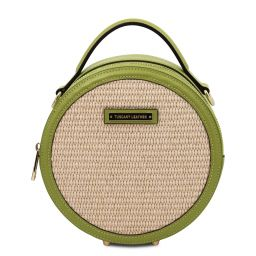 Thelma Straw effect round bag Зеленый TL142090