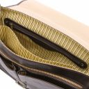 Mantova Leather multi compartment TL SMART briefcase with flap Dark Brown TL142068