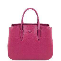 Camelia Leather handbag Fuchsia TL141728