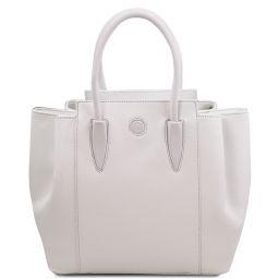 Tulipan Leather handbag White TL141727