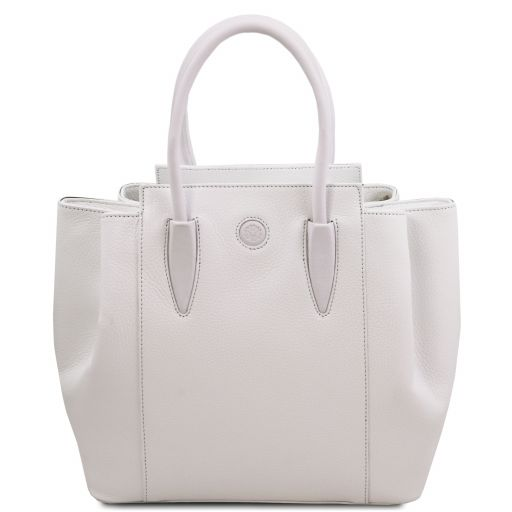 Tulipan Leather handbag White TL141727