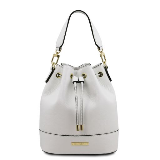 TL Bag Leather bucket bag White TL142083