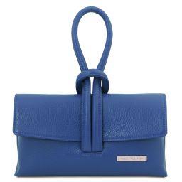 TL Bag Leather clutch Blue TL141990