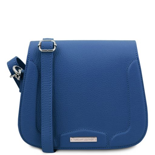 Jasmine Leather shoulder bag Blue TL141968