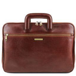 Caserta Document Leather briefcase Коричневый TL142070