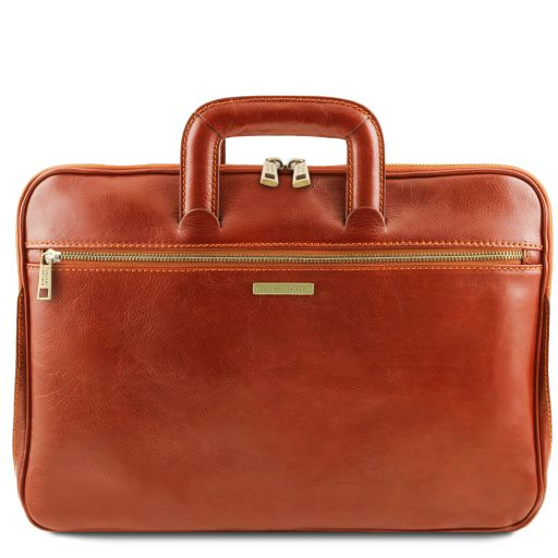 Caserta Document Leather briefcase Honey TL142070