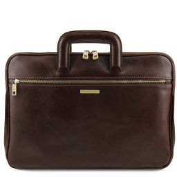 Caserta Document Leather briefcase Dark Brown TL142070