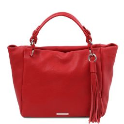 TL Bag Soft leather shopping bag Lipstick Red TL142048