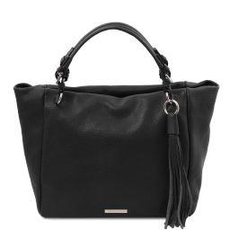 TL Bag Soft leather shopping bag Black TL142048