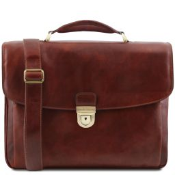 Alessandria TL SMART Multifach-Notebooktasche aus Leder Braun TL142067
