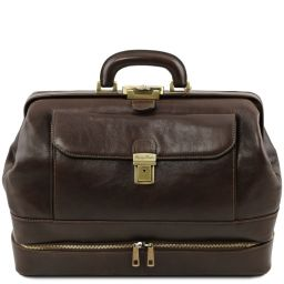 Giotto Exclusive double-bottom leather doctor bag Dark Brown TL142071