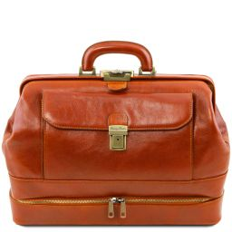 Giotto Exclusive double-bottom leather doctor bag Honey TL142071