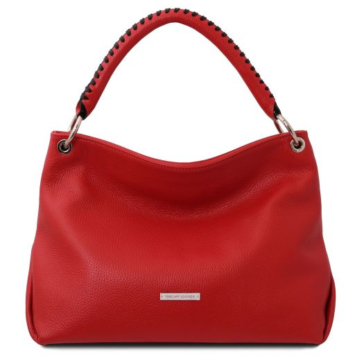 TL Bag Bolso a mano en piel suave Rojo Lipstick TL142087