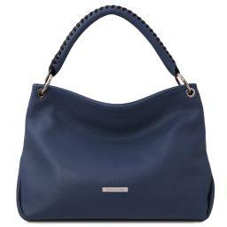 TL Bag Borsa a mano in pelle morbida Blu scuro TL142087