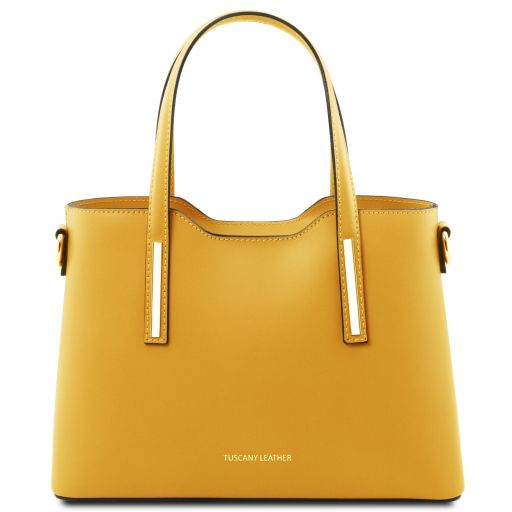Olimpia Leather tote - Small size Yellow TL141521