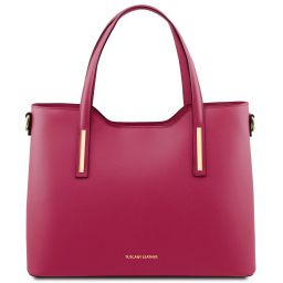 Olimpia Leather tote Fuchsia TL141412