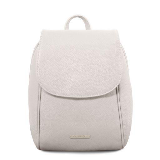 TL Bag Zaino in pelle morbida Bianco TL141905