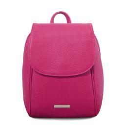 TL Bag Soft leather backpack Fuchsia TL141905