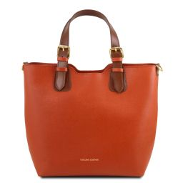 TL Bag Borsa shopping in pelle Saffiano Brandy TL141696