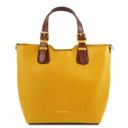 TL Bag Borsa shopping in pelle Saffiano Giallo TL141696