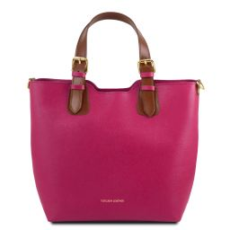 TL Bag Borsa shopping in pelle Saffiano Fucsia TL141696