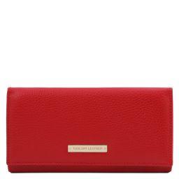 Nefti Esclusivo portafoglio donna in pelle morbida Rosso Lipstick TL142053
