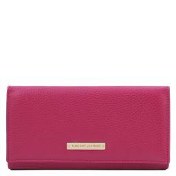 Nefti Exclusif portefeuille pour femme en cuir souple Fuchsia TL142053