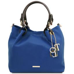 TL KeyLuck Borsa shopping in pelle morbida Blu TL141940
